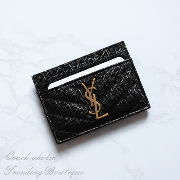 Saint Laurent YSL Monogram Leather Card Holder 554dd2fa71